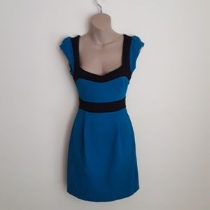 French Connection Teal Blue Dress 4